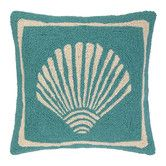 Found it at Wayfair - Single Scallop Hooked Wool Throw Pillow
