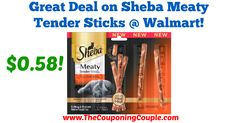 AWESOME Printable Coupon makes for a cheap deal at Walmart! Great Deal on Sheba Meaty Tender Sticks @ Walmart!  Click the link below to get all of the details ► http://www.thecouponingcouple.com/great-deal-on-sheba-meaty-tender-sticks-walmart/ #Coupons #Couponing #CouponCommunity  Visit us at http://www.thecouponingcouple.com for more great posts!