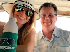 Amy with her dad on Father's Day