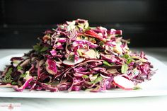 Red Cabbage, Bacon and Avocado Salad