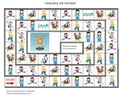 Juego Infantil El tablero de los ritmos Vamos a Bailar