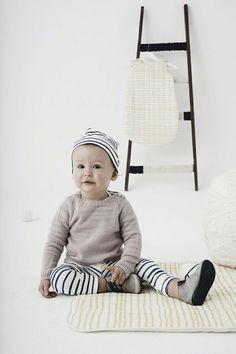 Our FW14 organic cashmere jumper and organic cotton stripy legging on Paul et Paula blog