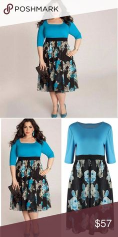 """Plus Size Womens, Evening Party, cocktail dress IN STOCK NOW!! SIZE:   5X 5XL-- MEASUREMENTS:  --bust:111cm/43.7""""  waist:101cm/39.7""""  sleeve:35.5cm/13.9""""   length:111cm/43.7""""  100% brand new and high quality Specifics: Colors: Blue Material: Polyeater Sleeve: Half sleeve Collar: Crew Neck Styles: Women Sexy Bodycon Evening Party Dress oversized Features: Floral, Bodycon, Plus size Occasion:  Casual, Party IN STOCK NOW!!! Dresses Midi"""