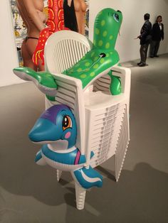Jeff Koons Artist Retrospective Exhibition Inflatables Chairs Lobster Painting Whitney Museum Of American Art New York