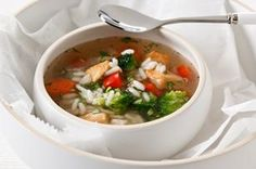 Chunky Chicken Vegetable Soup recipe…one of my favorites! Chunky Chicken Vegetable Soup recipe…one of my favorites! Related posts: This Weight Loss Vegetable Soup Recipe is one of our favorites! Vegetable Soup With Chicken, Chicken Soup Recipes, Easy Soup Recipes, Kraft Recipes, Chicken And Vegetables, Healthy Recipes, Chicken Rice, Veggies, Recipe Chicken
