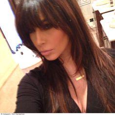 kim-kardashian-bangs - Miss Celeb