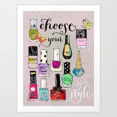choose your style II Art Print by Elisandra  - $15.60