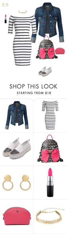 """""""Cute sunday"""" by clauxsanchex on Polyvore featuring moda, Superdry, Betsey Johnson, MAC Cosmetics, Tory Burch y Rebecca Minkoff"""