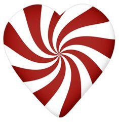 Lacarolita_X-mas Candy Cane candy heart. Christmas Rock, Christmas Hearts, Valentine Hearts, Heart With Wings, I Love Heart, Christmas Clipart, Christmas Images, Christmas Printables, Candy Cane Story