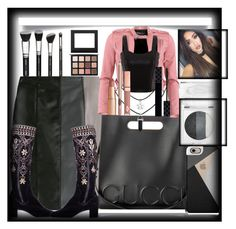 """""""Leather"""" by bren-johnson ❤ liked on Polyvore featuring Paule Ka, Gucci, Casetify, Mary Kay, FRACOMINA and Dolce Vita"""