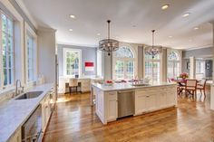 Large eat-in kitchen in my dream home ~ Ross, CA.  Swoon.