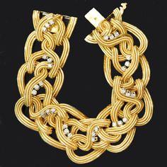 CARTIER Paris.c1955.18ct yellow gold and diamond bracelet