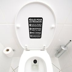 1000 id es sur le th me humour de wc sur pinterest for Autocollant mural walmart