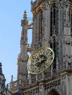 Cathedral of Our Lady (Antwerp) clock tower Big Clocks, Somewhere In Time, Time Stood Still, Telling Time, Roman Numerals, Our Lady, Time Travel, Big Ben, Over The Years