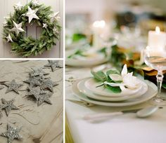 {holiday inspiration : stars and garlands and romance by candlelight} by {this is glamorous}, via Flickr