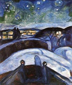 EDVARD MUNCH 1863  -  1944  -  Starry night