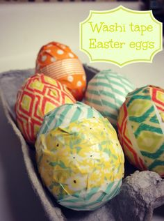 The Easleys: Washi tape & Chalkboard paint Easter Eggs! {tutorials}