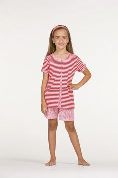 d626430056 V5-91205 50% Algodón 50% Poliéster Pijama de niña verano con