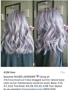 Lilac and silver hair . Lilac and silver hair More Best Picture For lilac hair makeup For Your Taste You are looking for something, and it is going to tell you exactly what you are lookin Silver Lavender Hair, Silver Purple Hair, Pastel Lilac Hair, Pastel Hair Colors, Lilac Grey Hair, Light Purple Hair, Pastel Grey, Silver Ombre, Grey Toner Hair