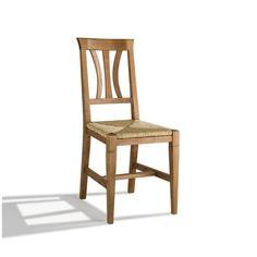 Silla Arga modelo Toscana con estructura en madera maciza de Roble y asiento en madera de Roble, Anea o Tapizado. Se puede realizar en color a juego de tus muebles.