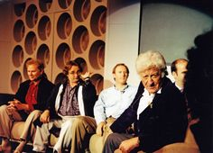 Four Doctors (Colin Baker, Sylvester McCoy, Peter Davison and Jon Pertwee) at the Panopticon, 1993 convention: Thirty Years of a Time Lord