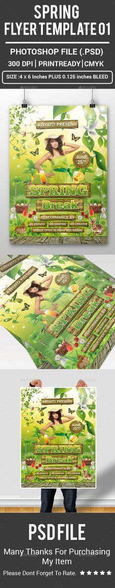 Dj \ Artist Tour - Flyer Template Festival, Modello di volantino - spring flyer template