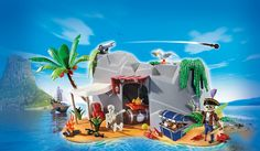 Removable rock section Firing cannon Secret compartment for treasure Includes a pirate figure, skeleton and accessories Super four, inspired by Playmobil Super 4, Super Four, Subway Surfers, Cool Toys, Awesome Toys, King Kong, Cool Cartoons, Cartoon Characters, Gardening