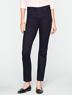 Talbots - Slimming Heritage Midnight Wash Ankle Jeans - 2014