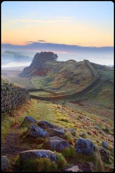 Hadrian's Wall, Northumberland, UK I was supposed to hike it 23 years ago .I had a baby instead !