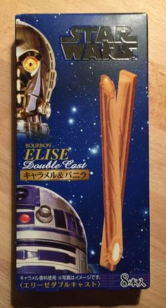 Star Wars, Elise Double Cast, Caramel & Vanila in Wafer, Japanese Candy  #Bourbon