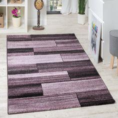 Designer Teppich Hochwertig Modern Rechteck Muster Meliert Fliedertöne  Purple Wohn Und Schlafbereich Designer Teppiche