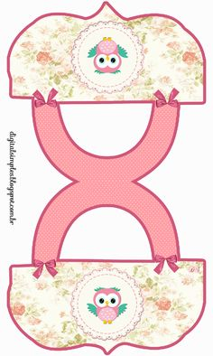 "Custom Birthday kit category ""Owls"" to Print - Digital Single Invitations. Treat Bag Topper. Click on link for free printables for kit. http://digitalsimples.blogspot.ca/2014/05/kit-de-aniversario-personalizado-tema.html?spref=pi"