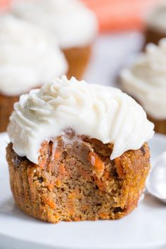 Carrot Cake Cupcakes {Paleo & Nut Free} | The Paleo Running Momma