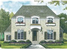 Eplans French Country House Plan - Breathtaking European Cottage - 2611 Square Feet and 3 Bedrooms from Eplans - House Plan Code HWEPL08833