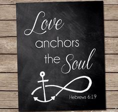 Anchor with foot prints on canvas