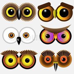 Eyes of owls.Vector set | Vector | Colourbox on Colourbox