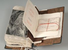 The Library of Lost Books: Wednesday Wonder No 6....The transformed book is an imagined travelogue inspired by William Cobbett's journey through bloody, Revolutionary France. It contains letters, postcards, drawings, photographs, historical information and other delights.