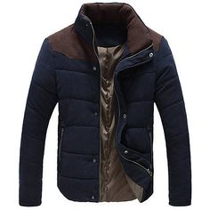 2015 Spring Autumn Winter Man Casual Jacket jaquetas de couro Man College Jacket coats mens jackets and coats Stylish Men, Men Casual, Casual Winter, Parka Style, Cotton Jacket, Mode Style, Winter Jackets, Casual Jackets, Men's Jackets