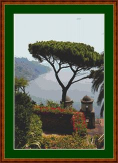 View Of Amalfi Coast Cross Stitch Pattern