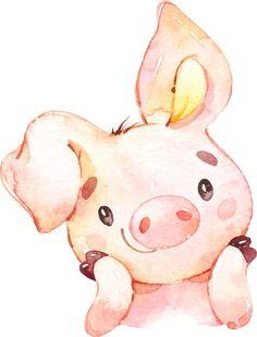 pig nursery prints set of whimsical art for kids room, pig baby shower decorations, kids playroom decor, classroom decor, girls nursery