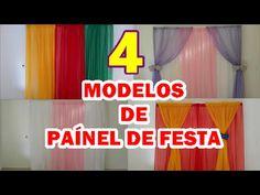 4 MODELOS DE PAÍNEL DE CORTINA PARA FESTA INFANTIL