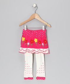 Take a look at this Pink & White Jenny Skirted Leggings - Infant by flutters on #zulily today!