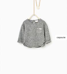 Imagem 1 de T-shirt malha canelada da Zara
