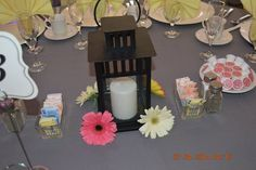 Another one of Leanne and Correy's centerpieces. #capriottiscatering #capriottispalazzo #Julyweddings #lanterns