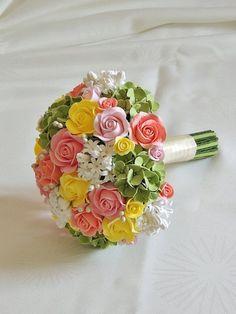 Bouquet+da+sposa+di+La+Boutique+Floreale+di+Kristine+su+DaWanda.com