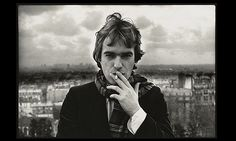Martin Amis, Paris 1979 from the display Martin Amis and Friends: Photographs by Angela Gorgas at the National Portrait Gallery Photograph: Angela Gorgas/National Portrait Gallery