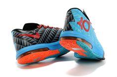 2014 Nike Zoom KD VI Kevin Durant Basketball Shoes - blue/black