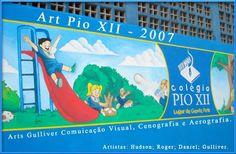 pintura fachada  escola pio XII