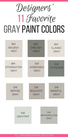 Grey Paint Colors for Your Home: The 11 best paint colors that will transform the look of your house! These are never-fail grey paints that always look good
