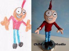 Lasten piirustuksista pehmoleluja